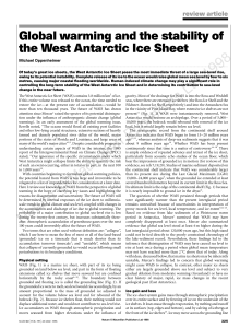 review article Global warming and the stability of the West Antarctic