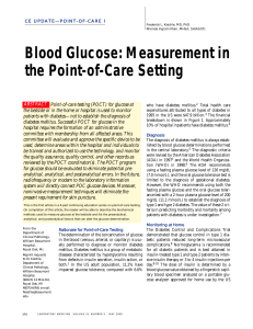 Blood Glucose: Measurement in the Point-of
