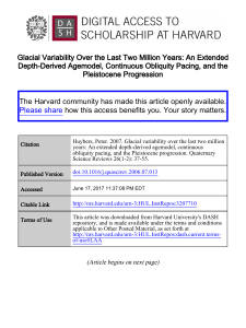 Glacial Variability Over the Last Two Million Years: An Extended