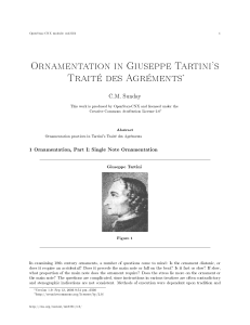 Ornamentation in Giuseppe Tartini`s Traité des