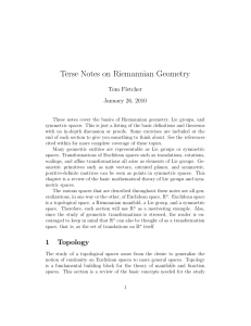 Terse Notes on Riemannian Geometry