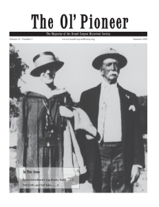 Vol. 21 No. 3 - Grand Canyon Historical Society
