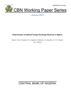Determination of Optimal Foreign Exchange Reserves in Nigeria