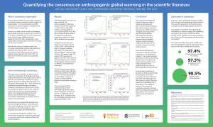 Quantifying the consensus on anthropogenic global