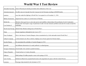 World War I Test Review