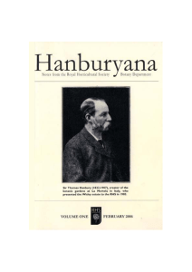 RHS Hanburyana Volume 1