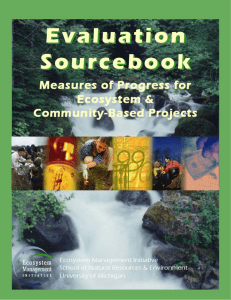 Evaluation Sourcebook - University of Michigan School of Natural