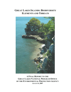 GREAT LAKES ISLANDS: BIODIVERSITY ELEMENTS AND THREATS