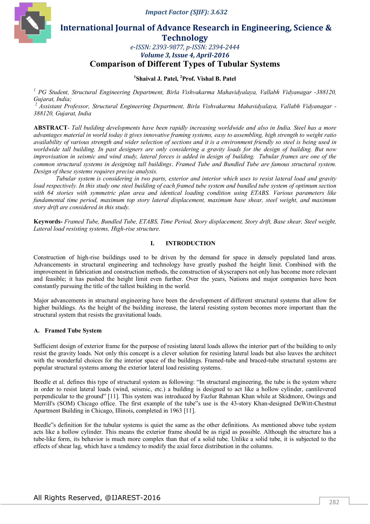 International Journal of Advance Research in Engineering