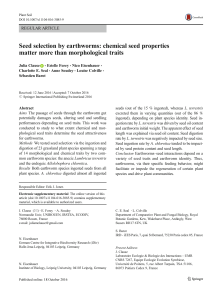 Seed selection by earthworms: chemical seed properties