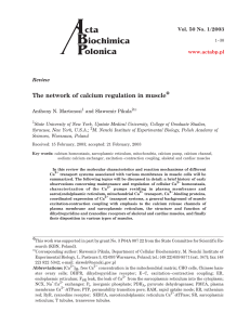 The network of calcium regulation in muscle