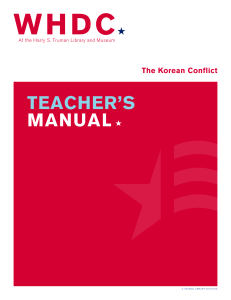 teacher`s manual - Truman Library Institute