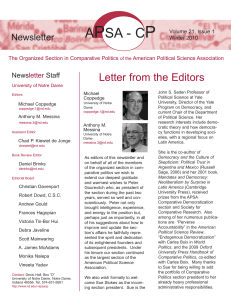 Winter 2010 - Comparative Politics Newsletter