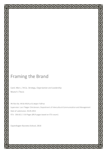 Framing the Brand - StudentTheses@CBS