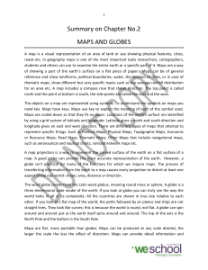 Summary on Chapter No.2 MAPS AND GLOBES - E