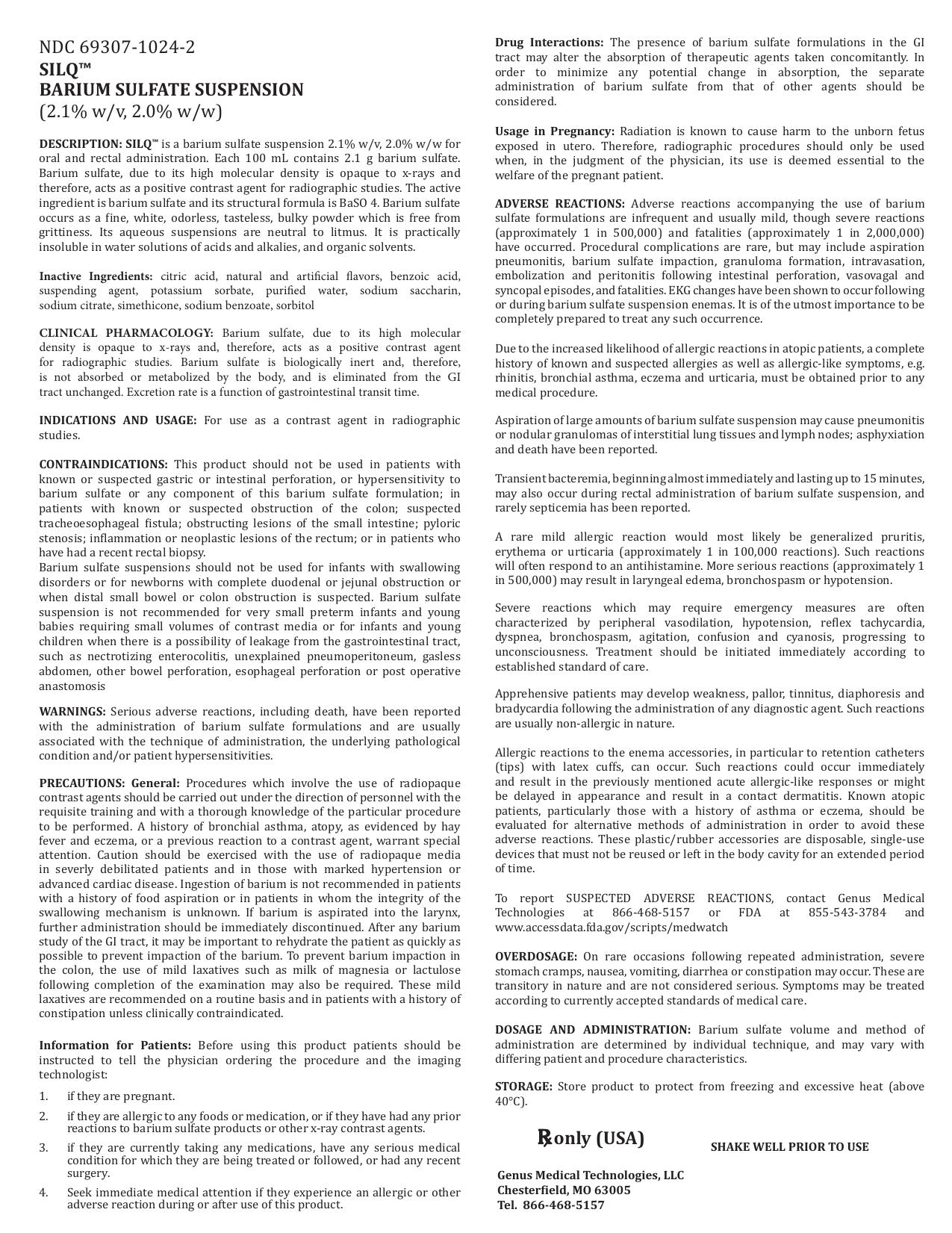 Ndc 69307 1024 2 Silq Barium Sulfate Suspension 2 1
