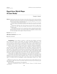 Equal Area World Maps: A Case Study