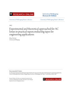 Experimental and theoretical approached for AC