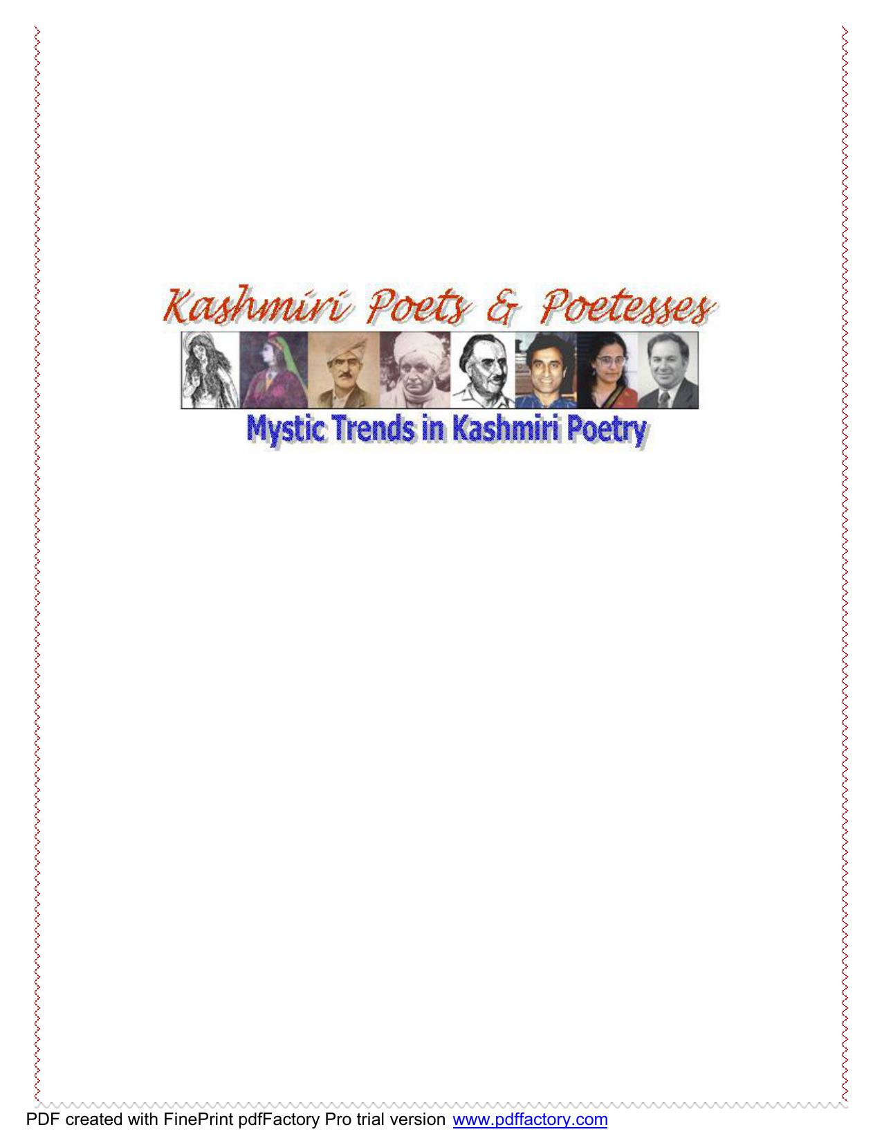 Kashmiri Poets - Kashmiri Overseas Association