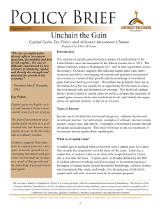Unchain the Gain - Arizona Chamber of Commerce