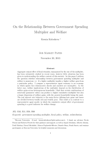 On the Relationship Between Government Spending Multiplier and