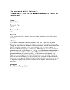 Transatlantic Trade and the Transfer of Property During the War