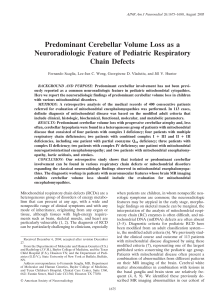 Predominant Cerebellar Volume Loss as a Neuroradiologic Feature