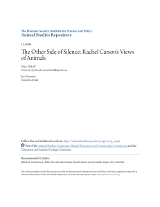 The Other Side of Silence: Rachel Carson`s Views of Animals