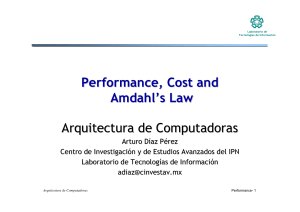 Performance, Cost and Amdahl`s Law