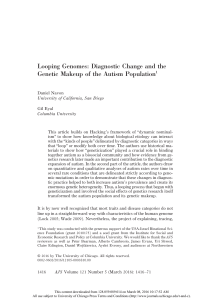 Looping Genomes: Diagnostic Change and the Genetic Makeup of