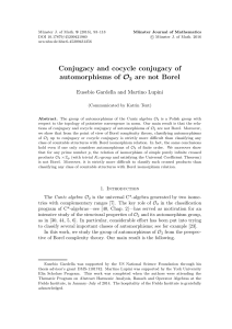 Conjugacy and cocycle conjugacy of automorphisms of O2 are not