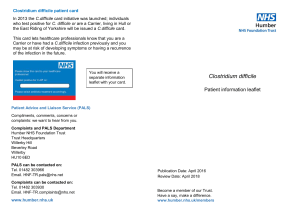 Clostridium difficile - Humber NHS Foundation Trust