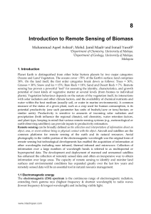 Introduction to Remote Sensing of Biomass