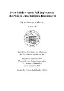 Price Stability versus Full Employment: The Phillips Curve Dilemma
