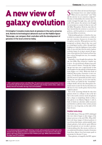A new view of galaxy evolution