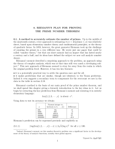 8. Riemann`s plan for proving the prime number theorem
