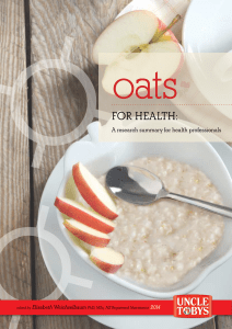 Oats for Health Booklet