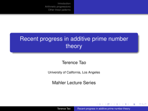 Recent progress in additive prime number theory