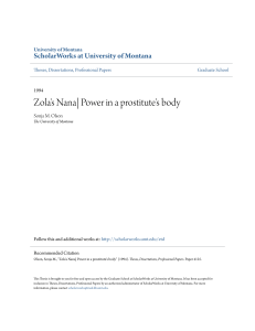 Zola`s Nana| Power in a prostitute`s body