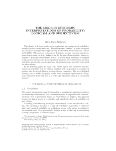 The Modern Epistemic Interpretations of Probability