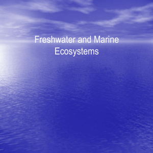 Freshwater and Marine Ecosystemsconversion