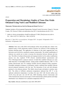 Preparation and Morphology Studies of Nano Zinc Oxide Obtained