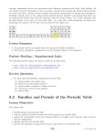 Activity instructions 82 families and periods of the periodic table lesson objectives urtaz Image collections
