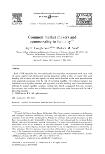 Common market makers and commonality in liquidity