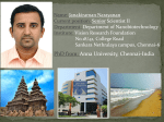 PhD from: Anna University, Chennai