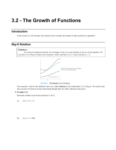 3.2 - The Growth of Functions