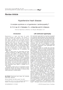 Hypertensive heart disease. A complex syndrome or a hypertensive