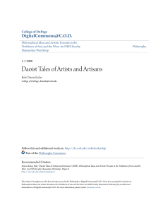 Daoist Tales of Artists and Artisans
