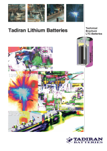 Technical Brochure LTC-Batteries