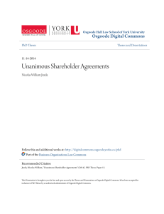 Unanimous Shareholder Agreements